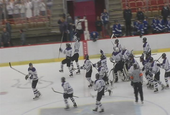 Grant Thielbar scores the game winner, as Memorial advances to the State Championship game