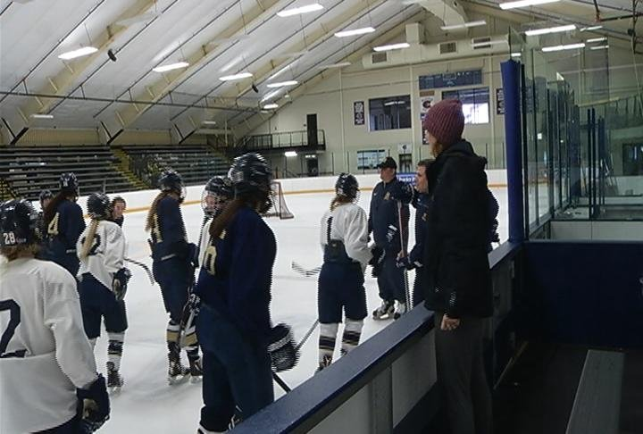 UWEC practices after getting its NCAA bid