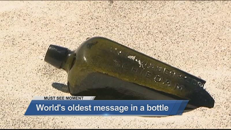 Scientists have discovered the oldest message in a bottle