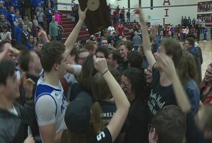 The Macks celebrate their third straight Sectional Title
