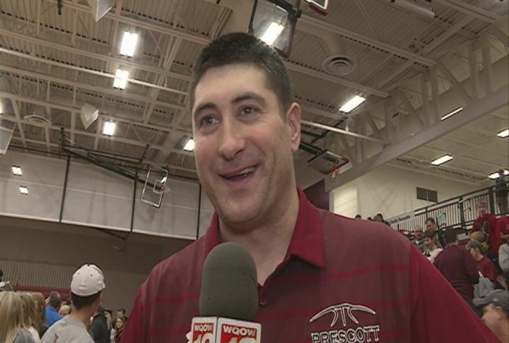 Prescott head coach Nick Johnson