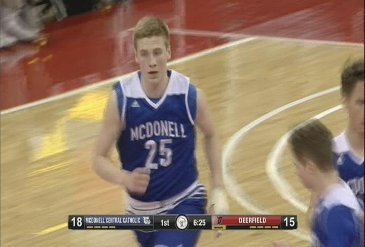 Eion Kressin scores a team high 16 points, as the Macks top Deerfield in the Division 5 State semifinals