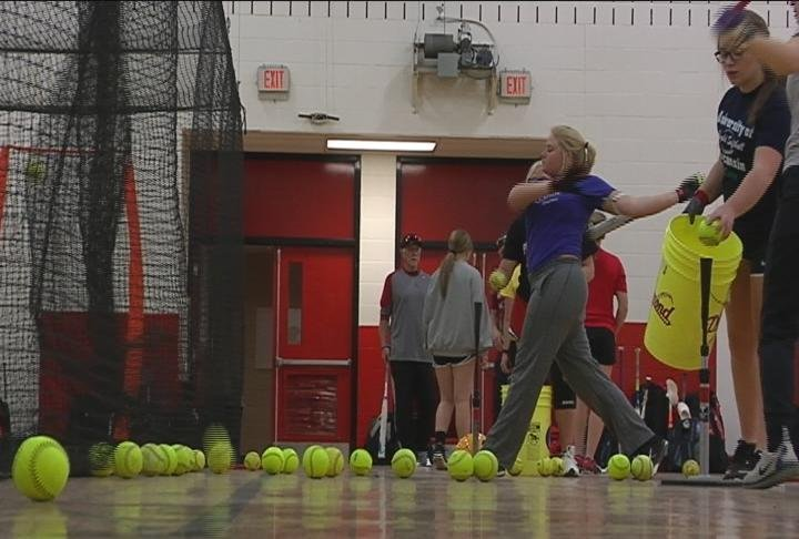 Chippewa Falls softball practices prior to its Florida trip (file photo)