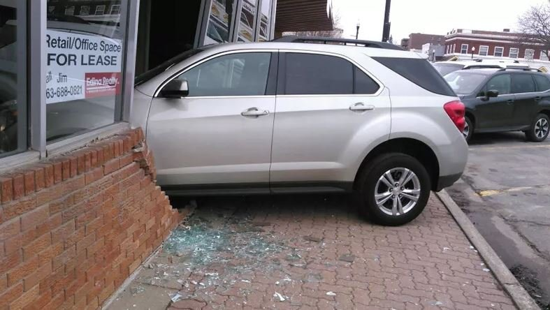 Teen Taking Driving Test Smashes Car Into License Bureau