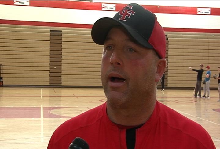 Chippewa Falls head coach Mitch Steinmetz