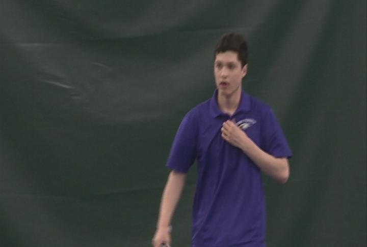 EC Memorial's Mark Pepperl wins his match at one-singles