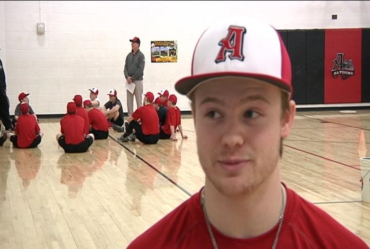 Altoona senior pitcher/outfielder Mitch Adrian