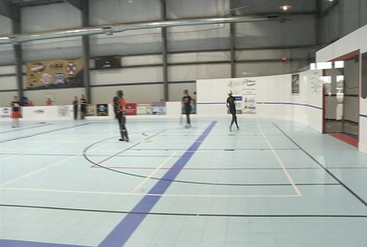 Elk Mound & Bloomer scrimmage at the EC Indoor Sports Center