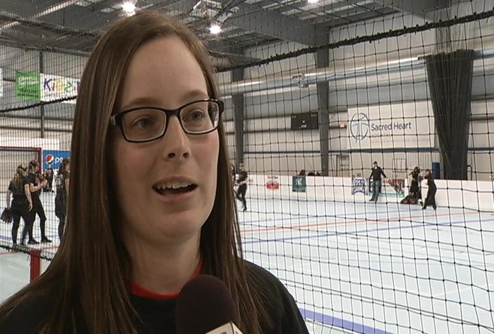 Elk Mound head coach Samantha Weix