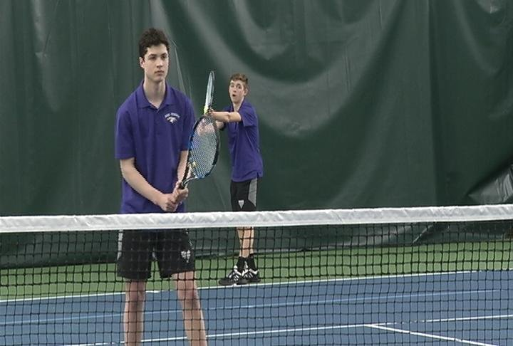 EC Memorial's Mark Pepperl & Sam Rechek win 6-0, 6-0 at #1 doubles