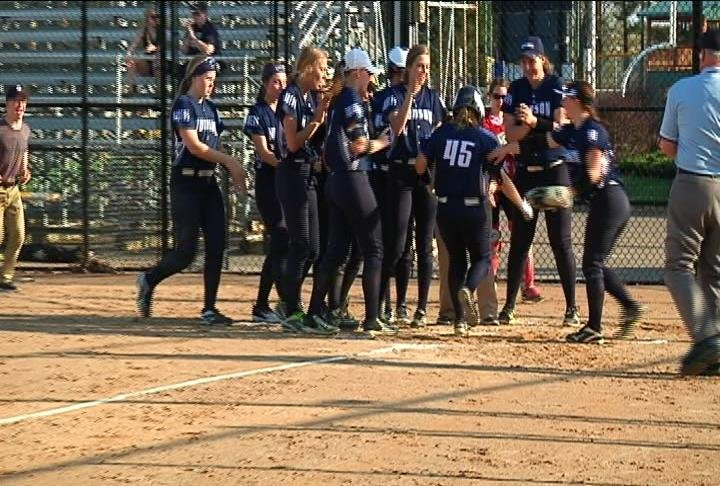Hudson's Paige Meyer slugs a solo HR as the Raiders defeat EC North
