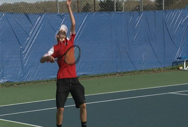 Sean Martin of Chippewa Falls wins 6-1, 6-0 at #1 singles