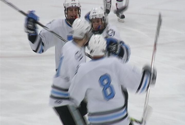 EC North celebrates a Zach Urdahl goal (file photo)