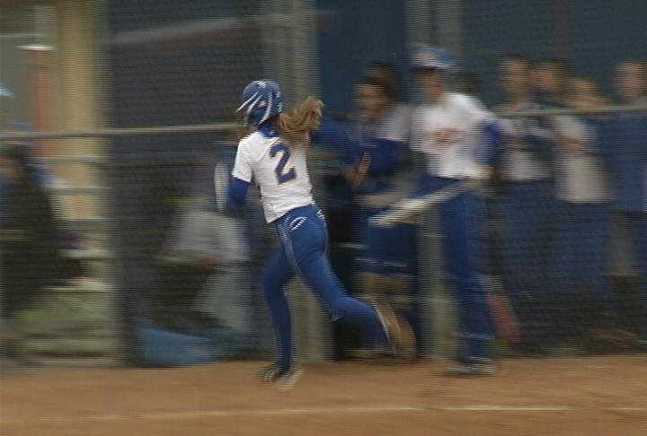 McDonell Central's Maggie Craker heads home as the Macks clinch a share of the Western Cloverbelt title