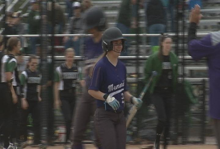 Morgan Brunner delivered the game-winning hit in the 8th inning, as the Abes beat the Evergreens