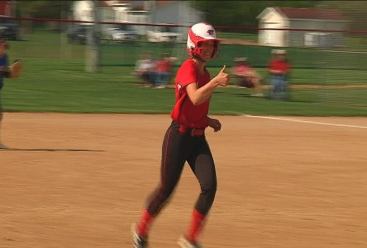 Autumn Olson of Chippewa Falls homers as the Cardinals clinch the BRC title