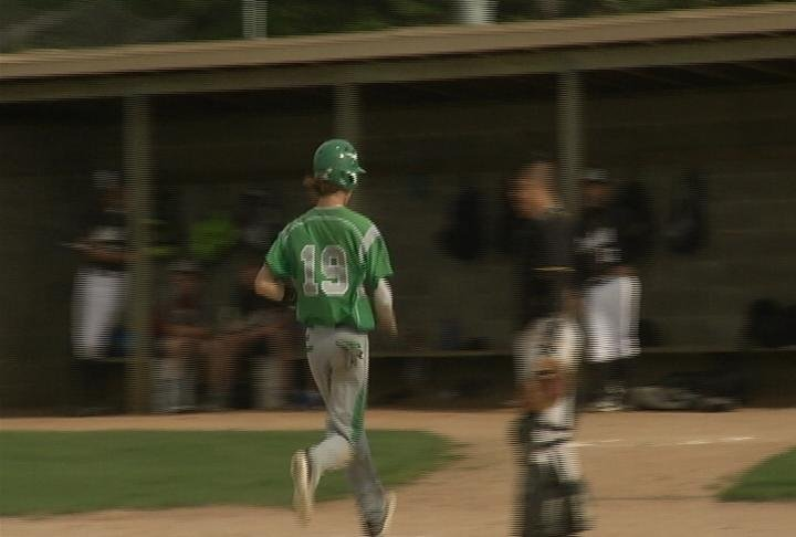 Luke Rooney scores the go-ahead run for EC Regis