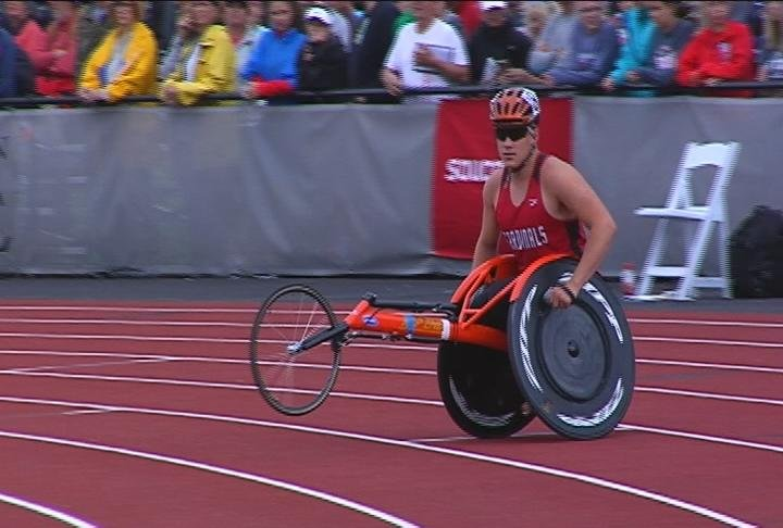Ty Wiberg wins 2 events to help Chippewa Falls win the Wheelchair Division team title