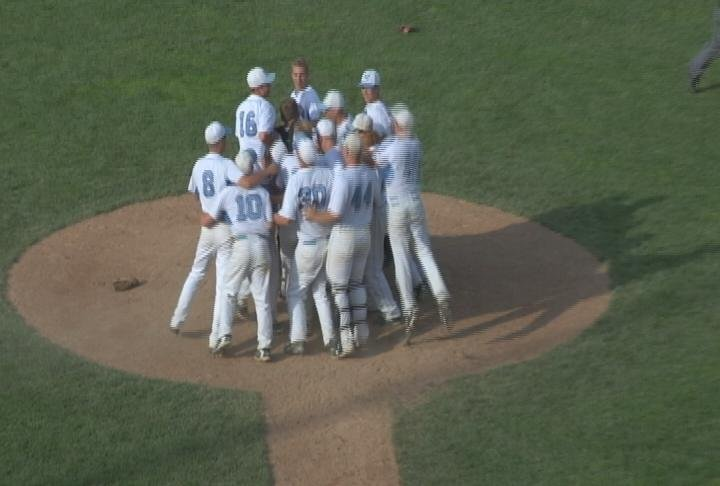 The Huskies celebrate their Sectional Championship over Stevens Point