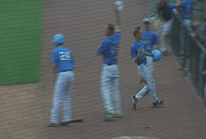 Jeffrey Pippenger scores the game-tying run in the 6th, but North falls to Waunakee