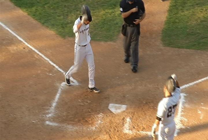 Nick Addison slugs a solo HR for the Express