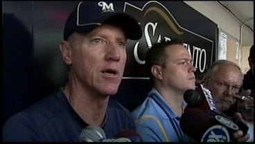 Prior to Monday's game, Ron Roenicke talks about Zach Greinke skipping Wednesday's start