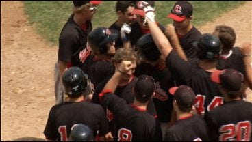 EC Legion celebrates a Sam Hurt HR