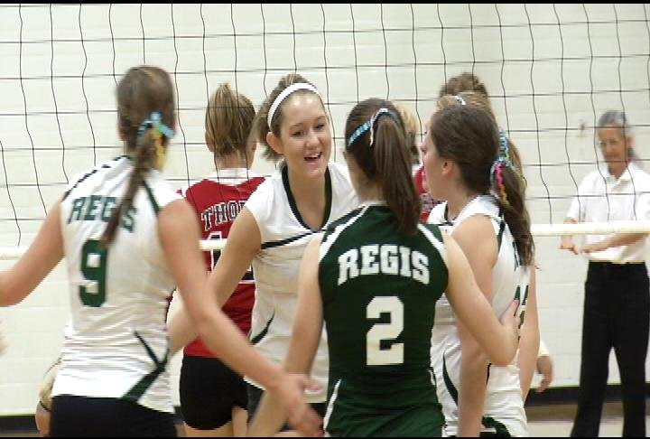 Regis sweeps Thorp in its first conference win