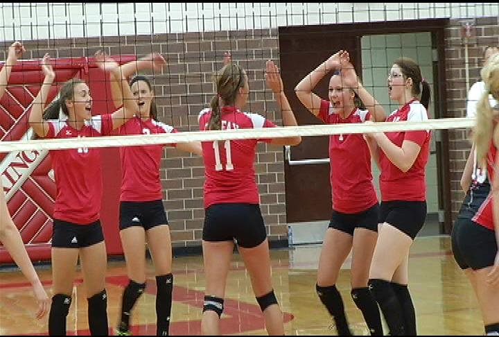 Colfax celebrates a kill by Ryleigh Prochnow (#11)