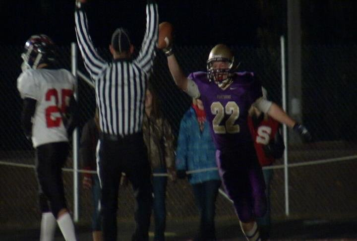 Durand's Jacob Biesterveld celebrates his game-winning TD vs. Somerset