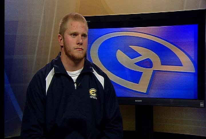 UWEC senior defensive end Jimmy Hall