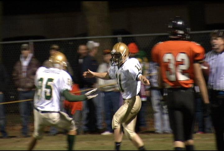 Brandon Wickersham (#11) has 3 TD's in Colby's  win at Stanley-Boyd