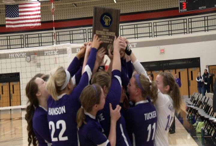 Grantsburg celebrates its Division 3 sectional title