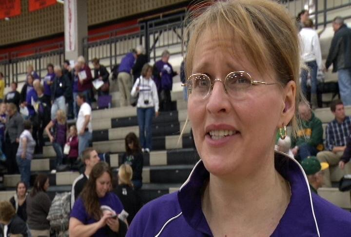 Grantsburg head coach Deb Allaman-Johnson