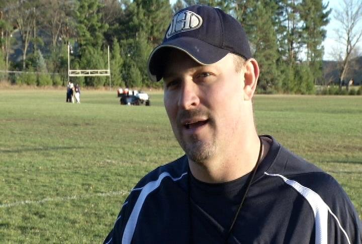 Hudson head coach Adam Kowles