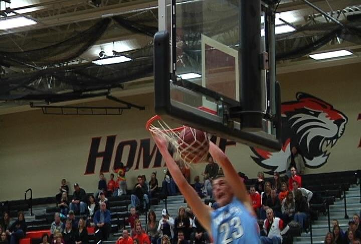 EC North's Josh Weix throws one down at New Richmond