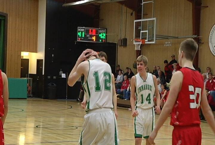 Jack Mielke (#12) hits 2 FT's to lift EC Immanuel Lutheran past Eleva-Strum