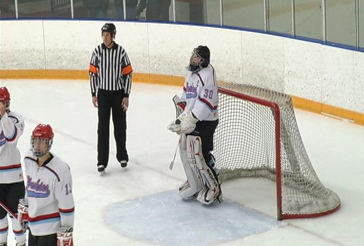 EC North goalie Bryce Kamenick makes 65 saves in a 5-2 loss to EC Memorial