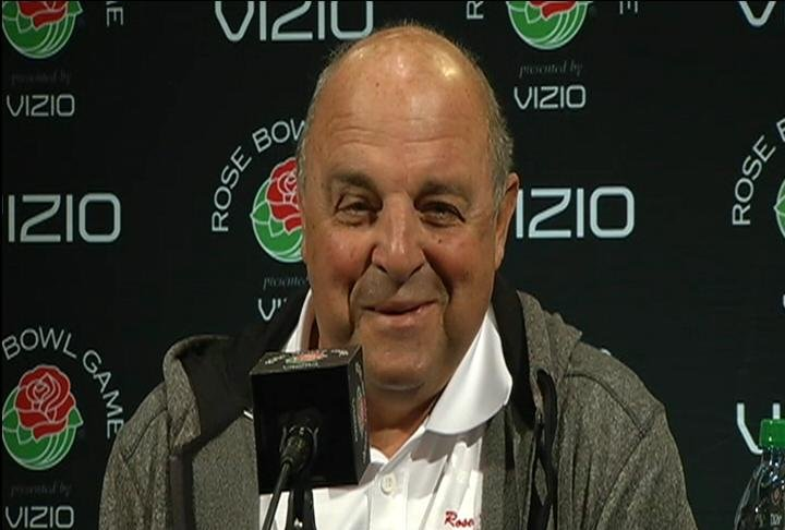 "Barry Alvarez: ""This has been easy. Just give me a whistle."""