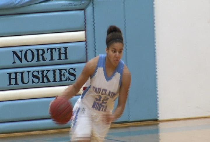 EC North's Kayonna Lee leads the Huskies to a win over Chippewa Falls