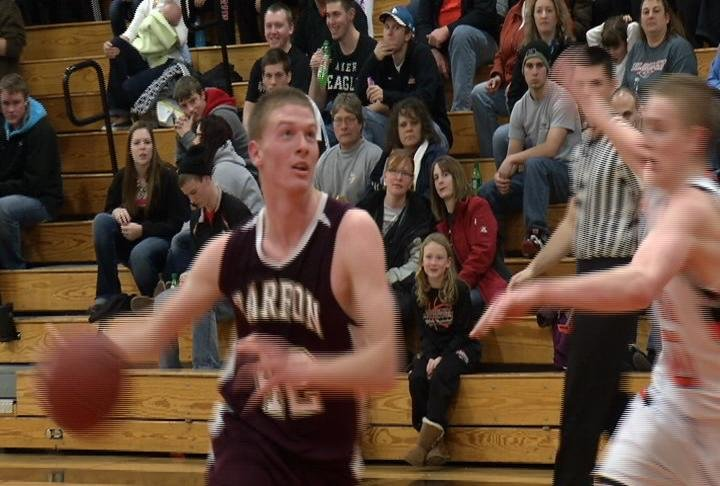 Barron's Carsen Davis goes to the hoop in the Golden Bears' win at Bloomer