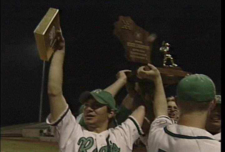 The 2002 EC Regis Ramblers celebrate their WIAA Division 3 state title