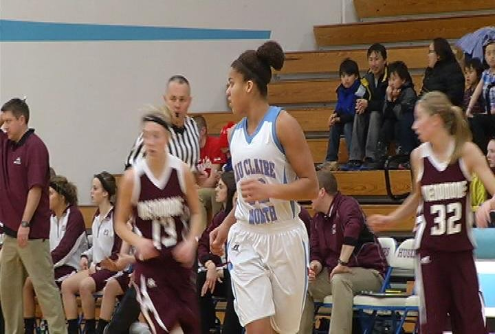 EC North's Kayonna Lee has 15 points as the Huskies beat Menomonie