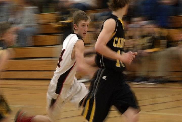 Altoona's David Hazuga goes to the hoop as the Railroaders knock off Cadott