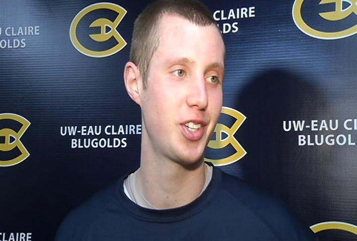 UWEC senior Dustin Kalien