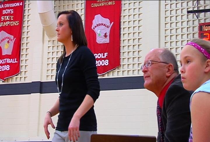 Eleva-Strum head coach Krystal Parr & dad Dale Parr