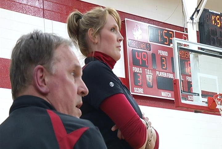 Chippewa Falls head coach Ali Becker & dad Ed Langham