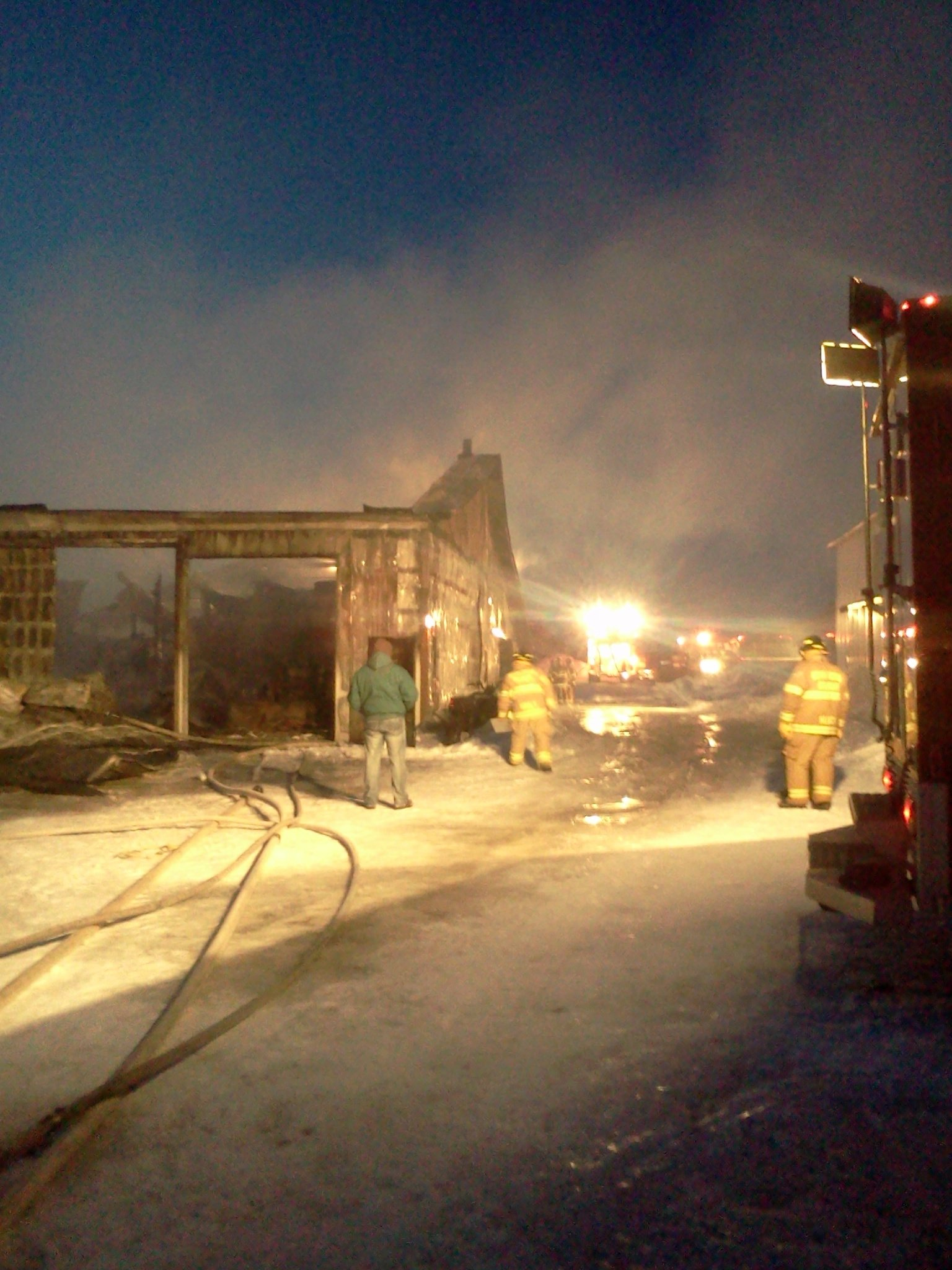 Chippewa County shed fire