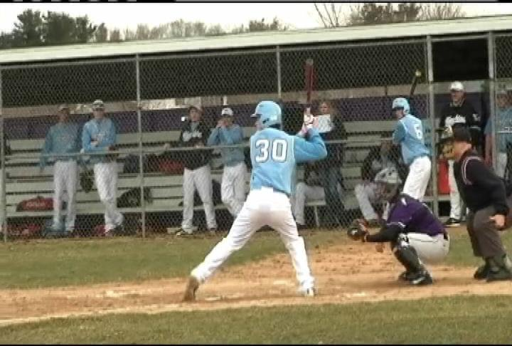 EC North's Bryce Kamenick delivers a 2 RBI single vs. Onalaska
