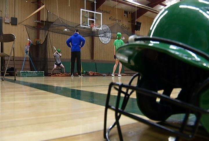 Immanuel Lutheran has spent a lot of time indoors this season